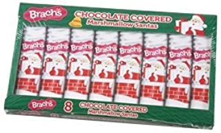 Brach's Chocolate Covered Marshmallow Santas - 2 Boxes