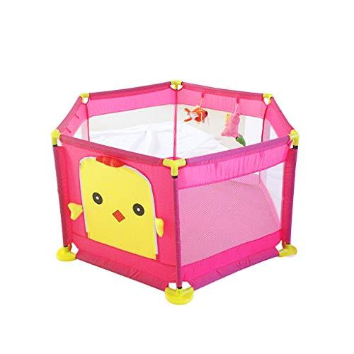 LIUFS-Clôture Clôture Sécurité intérieure Tapis de sécurité pour enfants Game Fence Fence (Couleur : Pink+Ocean ball*300)