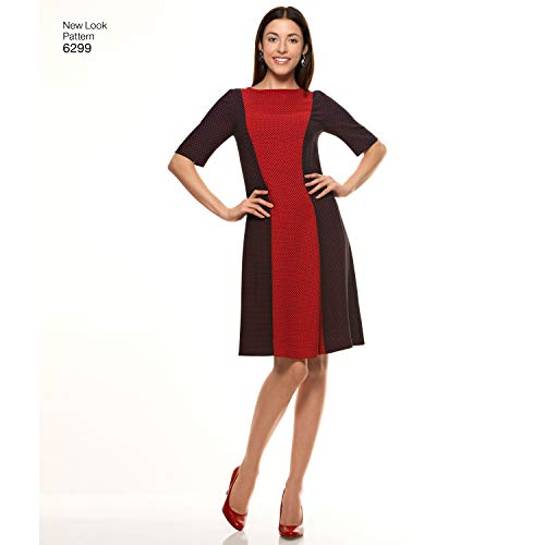Simplicity New Look Pattern 6299 Misses Dress with Neck and Sleeve Variations Sizes 8-10-12-14-16-18-20