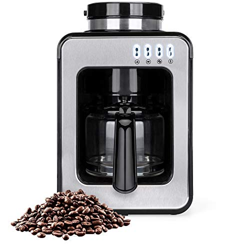 Best Choice Products 600W 4-Cup Automatic Coffee Maker w/Built-In Grinder, Auto Drip, Warm Plate, Scoop, Brush