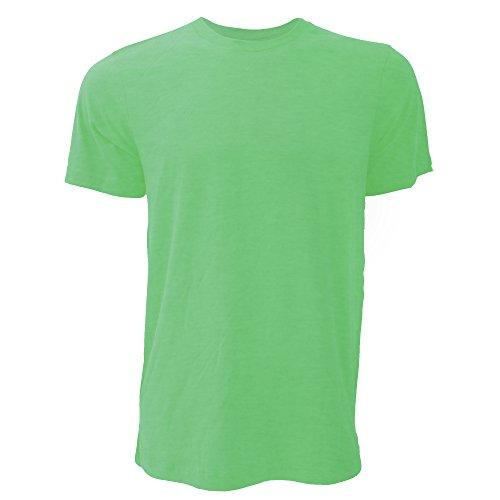 Canvas Unisex Jersey Crew Neck Short Sleeve T-Shirt (S) (Heather Green)