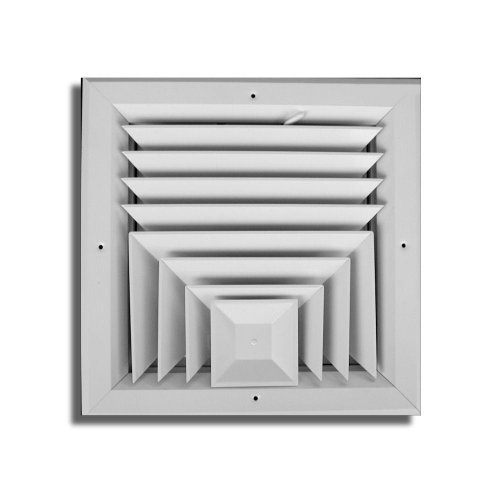 T.a. Industries 10 In. X 10 In. 3 Way Square Ceiling Diffuser Ha503 10x10