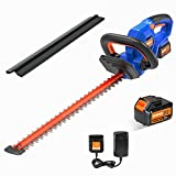 SORAKO 18V Cordless Electric Hedge Trimmer, φ18mm Cutting Length, 65Mn Spring Steel Blade, Dual Action Cut, 2.0Ah Li-ion Batteries, Fast Charger, and Safety Blade Guard, Blade Length 45cm, Ergonomic - Best Reviews Guide