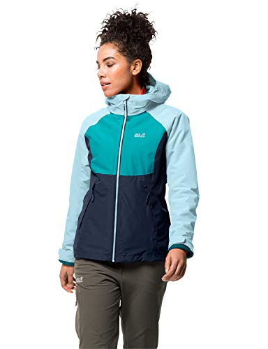 Jack Wolfskin Damen Mount ISA 3IN1 W 3in1-jacke, Frosted Blue, S