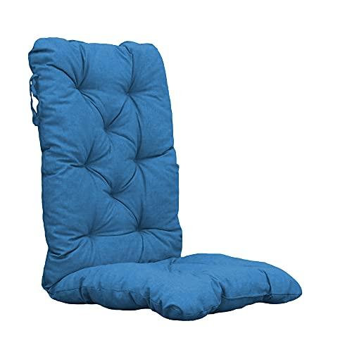 Chicreat Cojines para sillas de respaldo alto, 120 × 50 × 8 cm, turquesa (juego de 2)
