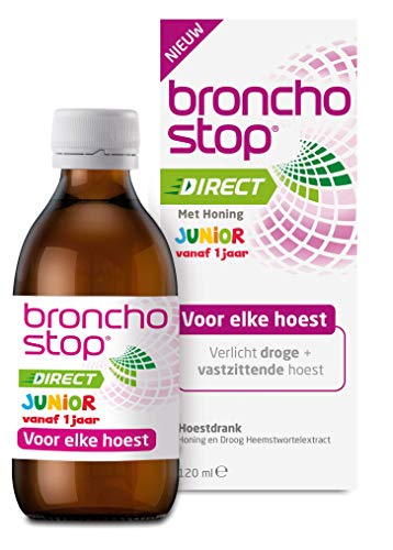 Bronchostop Direct Junior -  met Honing - directe verlichting bij vastzittende hoest, kriebel- en prikkelhoest - 120ml,