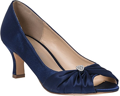 Zapatos de tacón bajo medio para mujer, para novia, damas de honor,...