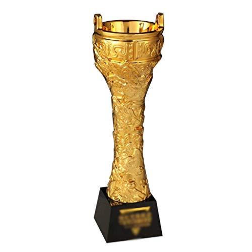 HFJKD Trofeo Chapado en Oro de Resina, Ceremonia de Entrega Personalizada Trofeo de Metal Trofeo Creativo Decoración de la Sala Decoración de la Fiesta(11.8 * 3.5 Pulgadas)