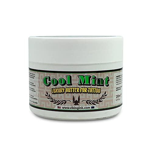 VIKING INK - Crème de Tatouage - Cool Mint (250gr) - Avant et pendant le tatouage - Vegan