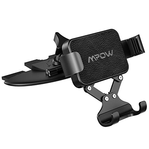 Mpow Car Phone Mount, Gravity Car Mount, Auto Lock and Auto Release CD Slot Phone Holder, One-Handed Operation Car Phone Holder Compatible with iPhone 11 11 Pro Xs Max XR Galaxy S10 S10+ S10e S9 More