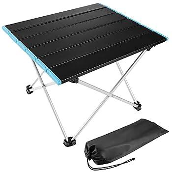 Table Pliante Camping, Diealles Shine Table Camping Aluminium Alliage d'aluminium Ultra-légère Portable avec Sac de Transport, pour Camping Jardin Balcon