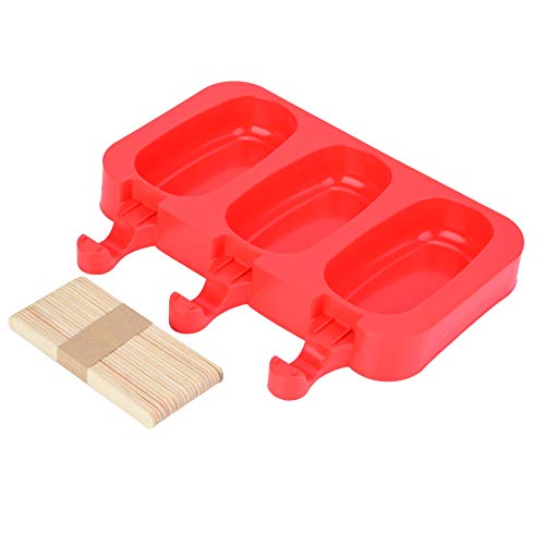 Changor Molde de silicona de grado alimenticio, silicona de grado alimenticio, color rojo
