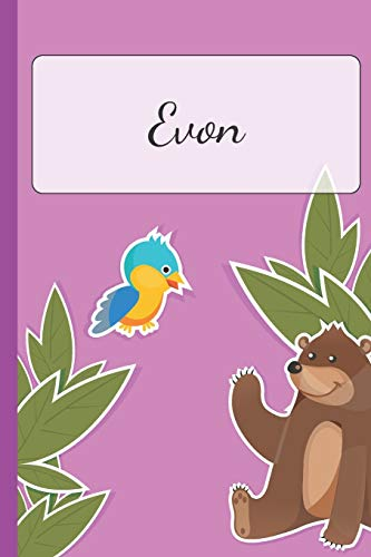 Evon: Personalized Name Notebook for Girls | Custemized with 110 Dot Grid Pages | Custom Journal as a Gift for your Daughter or Wife |School Supplies or as a Christmas or Birthday Present | Cute Diary