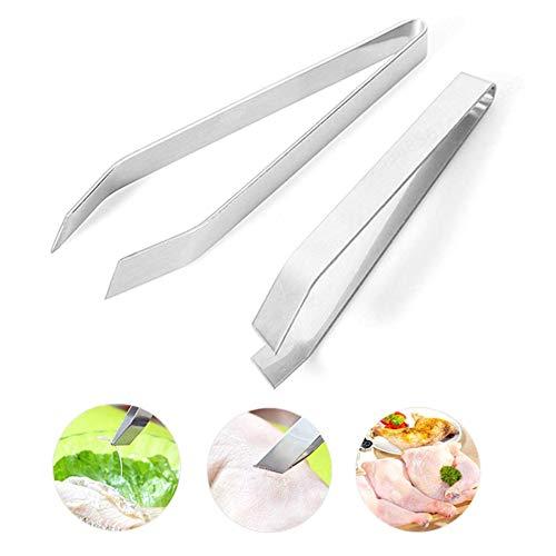 PRINDIY Pinzas de precisión para Espinas de Pescado, Hechas a Mano, Pinzas de Acero Inoxidable, Pinzas para Huesos