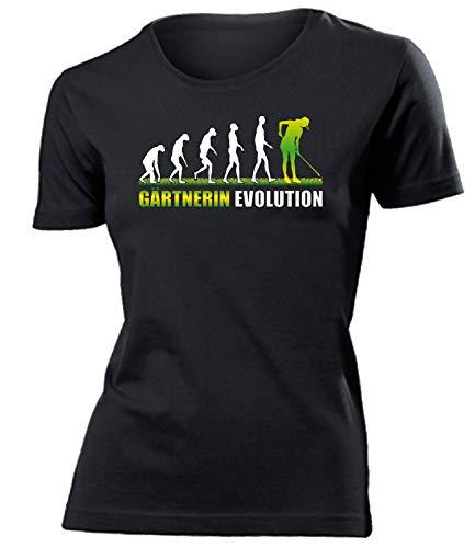 Gärtnerin Evolution Geburtstag Geschenke Damen Frauen t Shirt Tshirt t-Shirt zubehör Arbeitskleidung Berufsbekleidung kleingarten gärtnern Bekleidung Oberteil Hemd Kleidung Outfit Artikel
