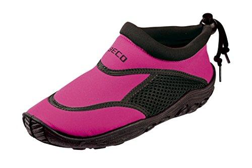 BECO Kinder Surf und Badeschuhe, Mehrfarbig (Pink/Schwarz), 34
