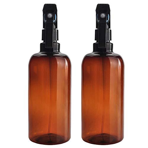 Beaupretty 2Pcs Flacons de Pulvérisation Vides Rechargeables Flacons de Pulvérisation de Nettoyage Atomiseur Flacon de Pulvérisation de Cheveux pour Les Produits de Nettoyage 500ML
