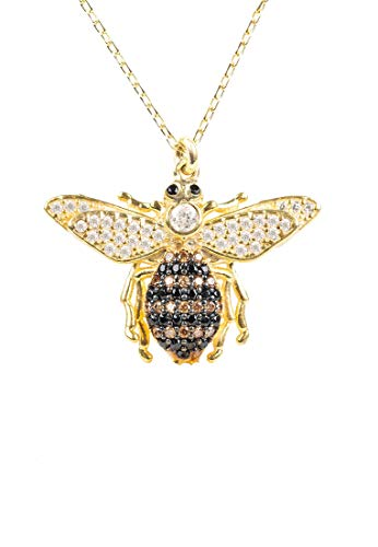 LATELITA LONDON Honey Bee Pendant Necklace Gold