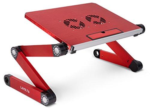 Lavolta Mesa Plegable Portátil, Bandeja con Base de refrigeración–Rojo