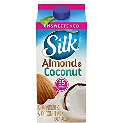 Silk Almond Coconut Blend Unsweetened Original Half Gallon, 64 oz