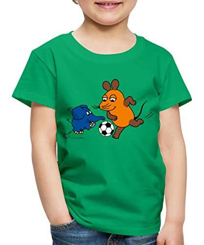 Sendung Mit Der Maus Fußballspiel Kinder Premium T-Shirt, 98-104, Kelly Green