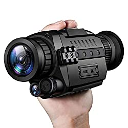 Pamyvia Night Vision Monocular, Digital Night Vision HD Scopes with Rechargeable/Take Photo/Video Recording/Playback Function for Outdoor/Surveillance/Hunting/Hiking