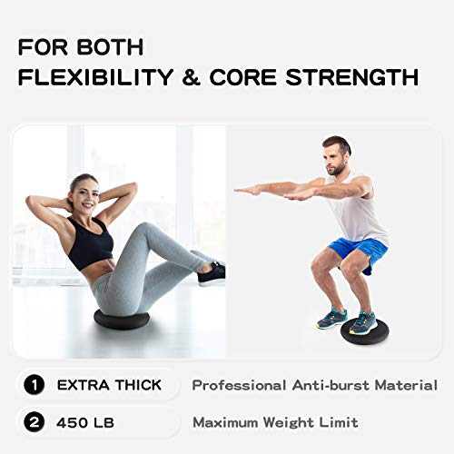Trideer-Extra-Thick-3334cm-Balance-Cushion-Air-Stability-Wobble-Board-Rehab-Cushion-for-ADHD-Fitness-Exercise-Workout-Posture-Trainer-with-Free-Pump-to-Adults-or-Children