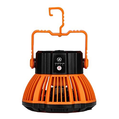 Ventilador De Camping Recargable Usb Con Controlador Remoto De Temporizador De Linterna Led, Ventilador De Techo Exterior De 3 Velocidades Para Tiendas De Campaña Domésticas Tamaño: 22,8 X 16,5 Cm