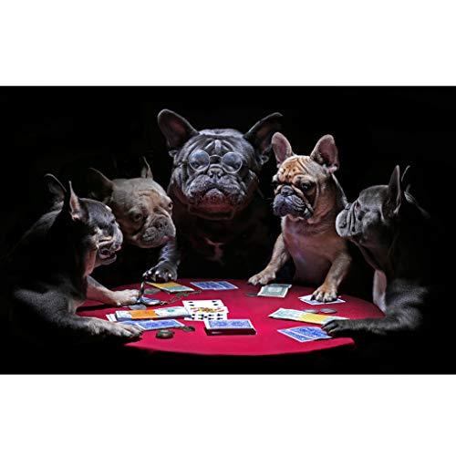 GuDoQi Puzzle 1000 Piezas Adultos Rompecabezas Juego de Cartas Bulldog para Infantiles Adolescentes…