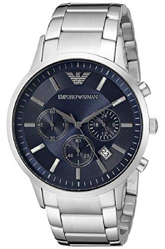 AR2448 Armani Herren-Uhren Quarz blau Zifferblatt Edelstahl Stahl Chronograph