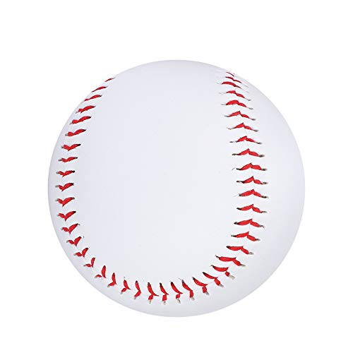Lsaardth Baseball - Weiß PU Elastische Praxis Soft Baseball Anfänger Jugend Baseball bälle Softball Soft Baseball Rindsleder Standard Reduce Impact Training Baseball für Schüler üben