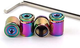 Zyj stores 1Set Anti-diefstal Sport Tire Valve stofkapjes stofdicht Tire Cap ventiel doppen for auto's, Fiets, Moto (Color...