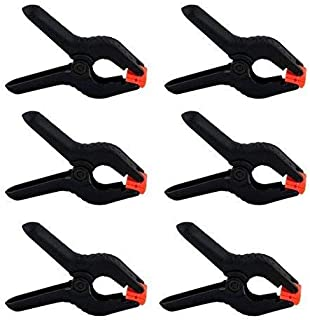 eWINNER 6-Pack 2.5 inch /6.5cm Black Backdrop Clamps for Nylon Muslin Paper Photo Background, Reflectors and Other Photogr...