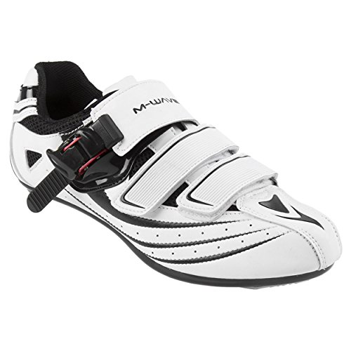 M-Wave R1 Road Bike Zapatilla Blanco/Negro, 44
