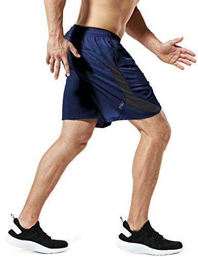 (テスラ)TESLA ハーフパンツ ドライ メッシュ スポーツ パンツ メンズ [UVカット・吸汗速乾]ショートパンツ ランニング フィットネス トレーニング 短パン 半ズボン ランニングパンツ MBH27-NVY_M