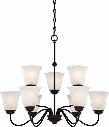 "Volume Lighting V2269-79 Chandelier, 30"" x 30"" x 25"", Antique Bronze Finish"