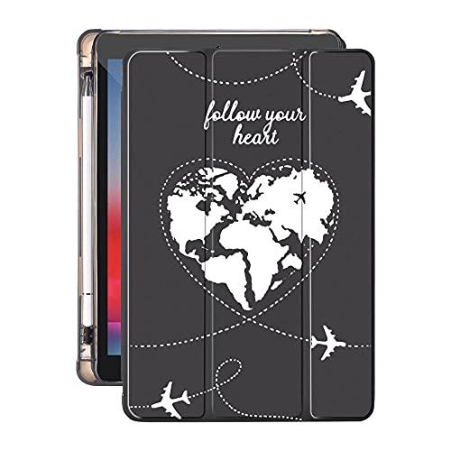 YYLKKB para 10.2 8º 2020 iPad Air 4 Funda con Soporte de lápiz 7.9 Pro 11 2018 Mini 5 10.5 Pro Air 2 3 Funda de Tableta de Viaje de Silicona World Travel-B01010s_10.2 Pulgadas 7mo 8