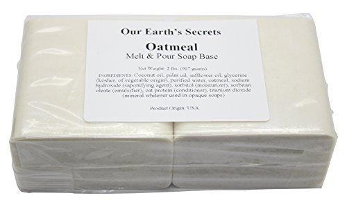 Oatmeal- 2 Lbs Melt and Pour Soap Base - Our Earth's Secrets