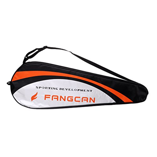 Unbekannt Schlägertasche Badmintontasche Badmintonschläger Sports Racket Bag Squash Tasche für Erwachsener Kinder - Silber Schwarz