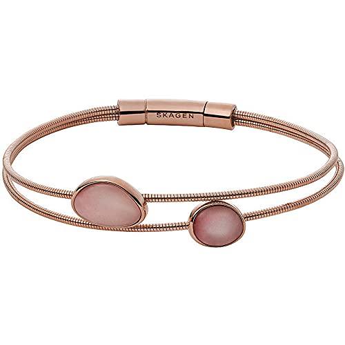 Skagen - Pulsera para mujer, acero inoxidable, cristal, piedra, talla única 88330757