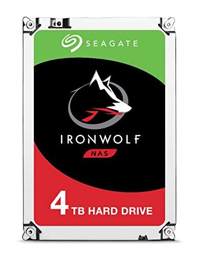 """Seagate IronWolf, 4 TB, Hard Disk SATA da 6 GBit/s, HDD, CMR 3,5"""" 5.900 RPM, Cache da 64 MB per NAS con Sistema RAID, 3 anni di servizi Rescue (ST4000VN008)"""