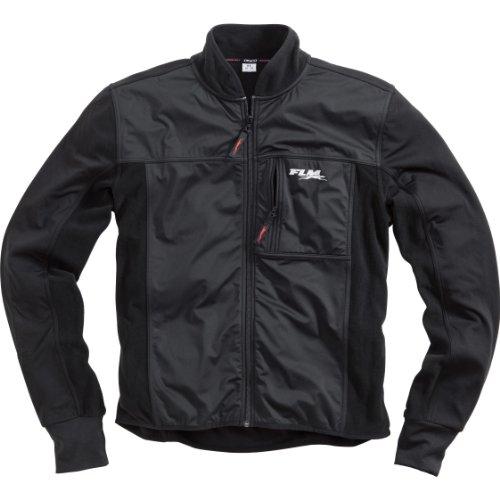 FLM Motorradjacke mit Protektoren Motorrad Jacke Sports Unterziehjacke mit Membran 1.0, warm und Winddicht, Frontbereich mit Stormproof-Membran als Kälterblocker, mit Brusttaschen, Schwarz, XL