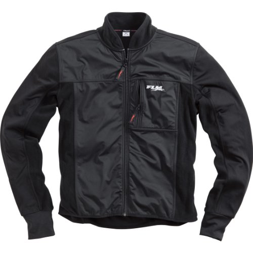 FLM Motorradjacke mit Protektoren Motorrad Jacke Sportief onderjasje met membraan 1.0, uniseks, multifunctioneel, Winter, textiel, zwart, M