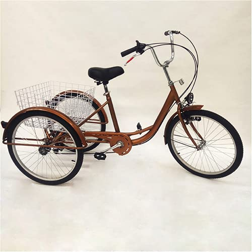 Tricycle Comfort, bicicletta da adulto, da 24 pollici, 3 ruote, con cestino per la spesa, bicicletta con riflettore, per adulti e bambini, per sport all aria aperta, City Urban
