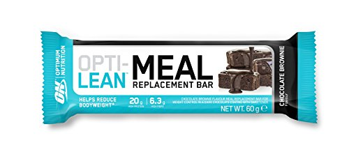 Optimum Nutrition Opti-Lean Meal Replacement Chocolate Brownie Bar, Sustitutivo de Comida - 12 barras