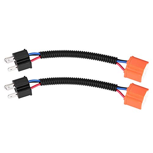2 Unids Adaptador de Línea de Conversión de Cerámica Cable de Conector de Conversión Cableado para Faros Antiniebla Haz de Arnés de Luz H4 / 9003 / HB2 Extensión Arnés.