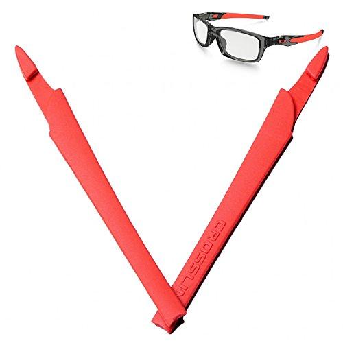 BanTheRay Orange Silicon Rubber Kit Arm Ear Socks for Oakley Crosslink Pro Switch Sweep Eyewear Glasses Temples