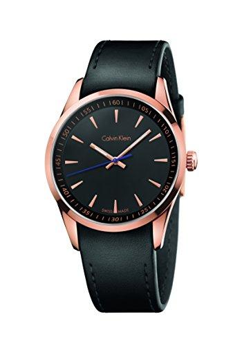 CK K5A316C1 - Reloj de Cuarzo para Hombre, Correa de Cuero Color Negro