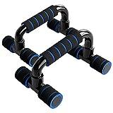 unycos - Barras para Flexiones con Empuñaduras de Esponja - Ejercicios de Gimnasio en Casa - Portátil - Soporte para Flexiones Push Up | Rutina de Ejercicio de Formación (Azul)