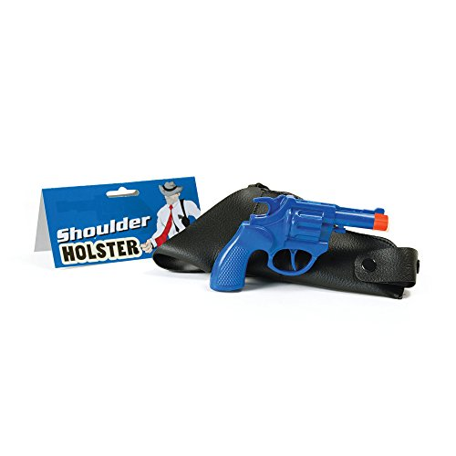 Bristol Novelty BA312 Gangster Holster en pistool, blauw, uniseks volwassenen, eenheidsmaat